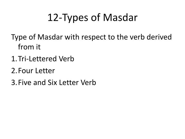 12-Types of Masdar