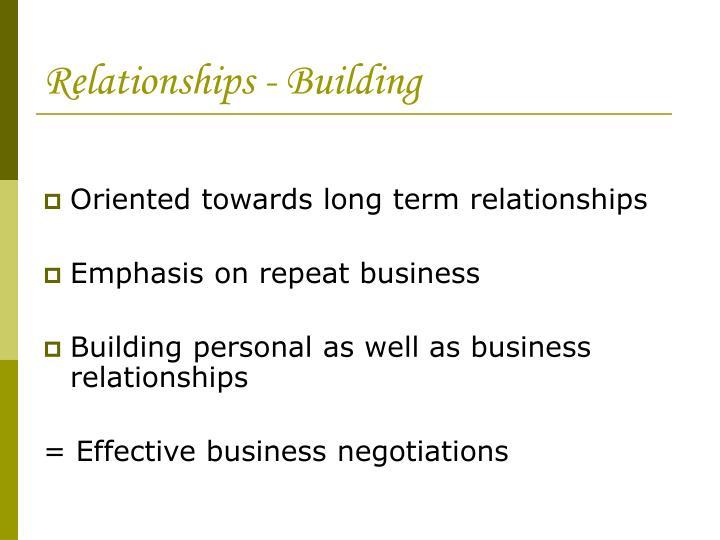 Relationships - Building