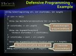 defensive programming example