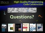 high quality programming code construction1