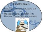food preparers