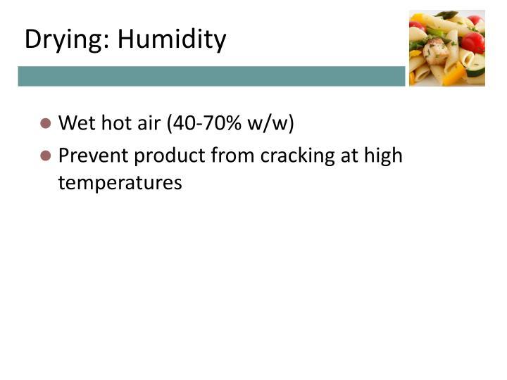 Drying: Humidity