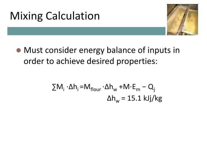 Mixing Calculation