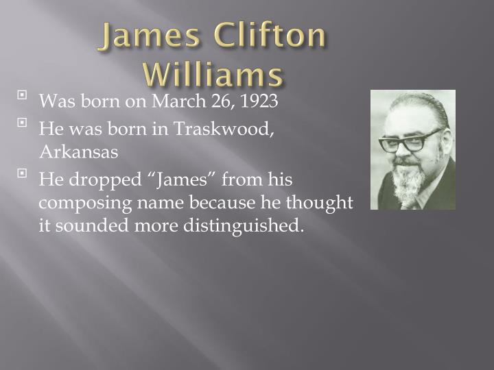 James Clifton Williams