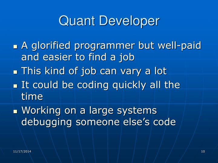 Quant Developer