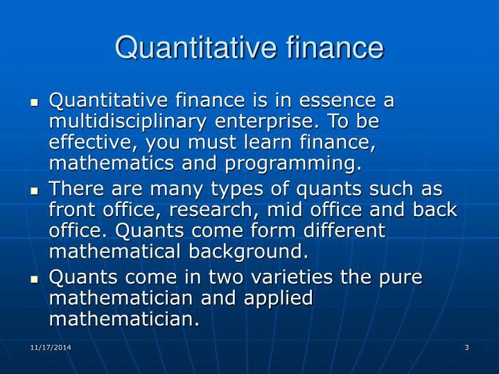 Quantitative finance1