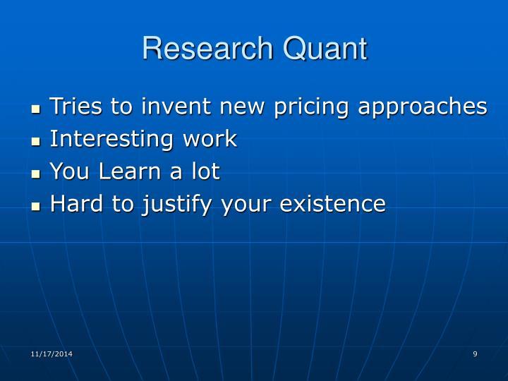 Research Quant