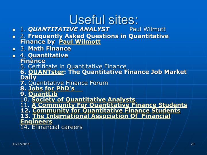 Useful sites: