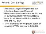 results cost savings