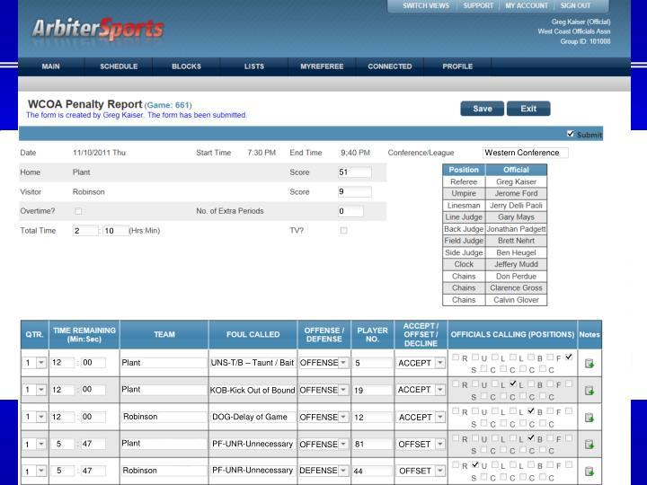 WCOA Penalty Report
