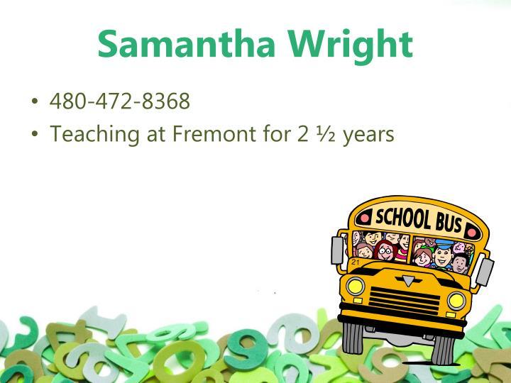 Samantha wright