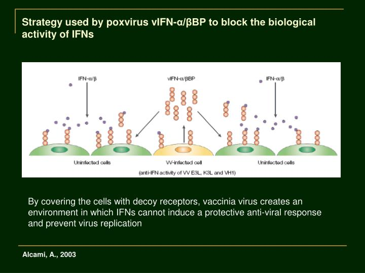 Strategy used by poxvirus vIFN-α/βBP to block the biological activity of IFNs