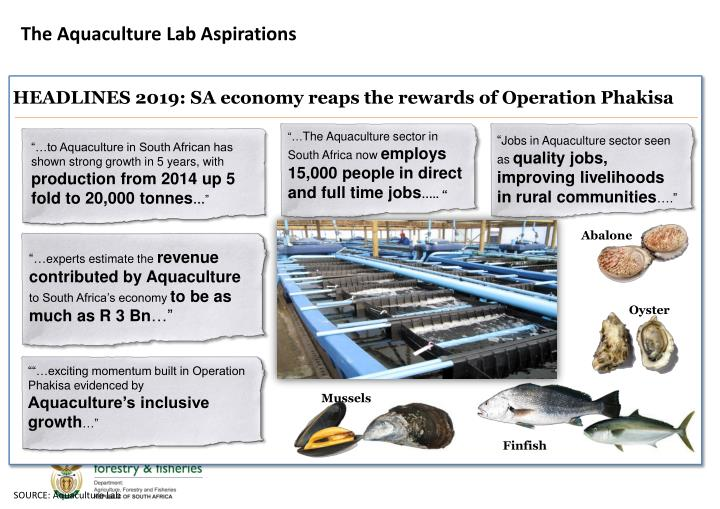 The Aquaculture Lab Aspirations