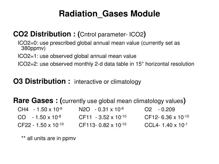 Radiation_Gases Module