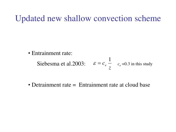 Updated new shallow convection scheme