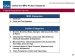jansan and mro product categories