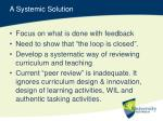 a systemic solution