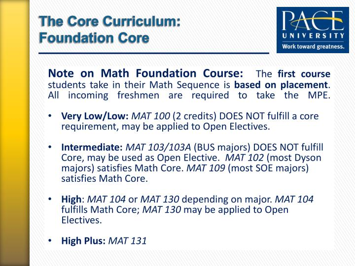 The Core Curriculum: