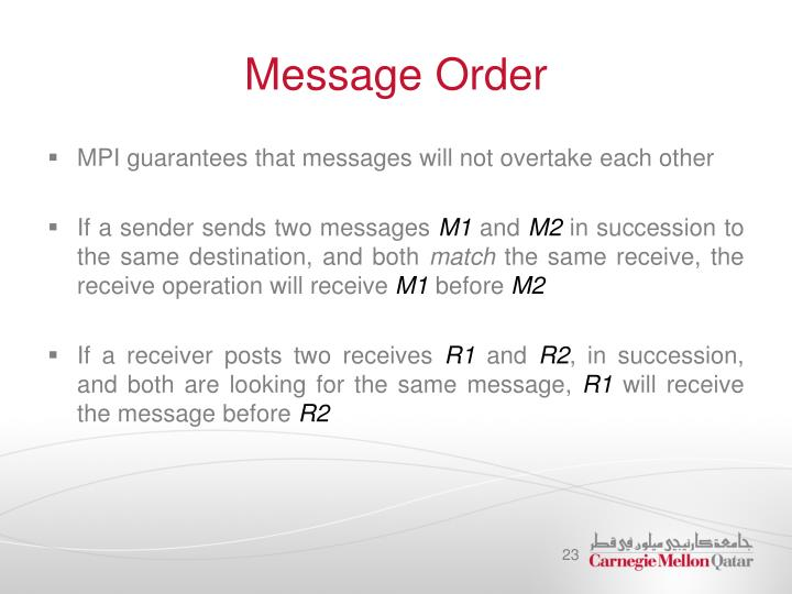 Message Order