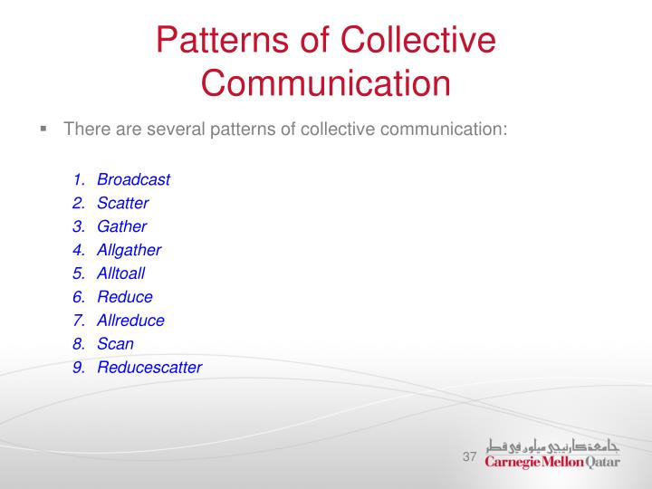 Patterns of Collective Communication
