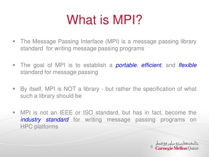 What is MPI?