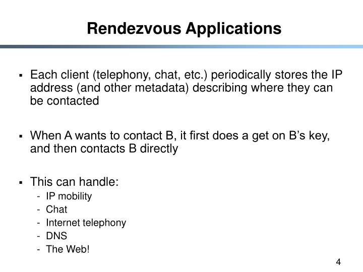 Rendezvous Applications