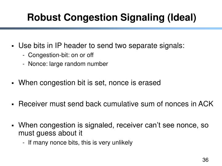Robust Congestion Signaling (Ideal)