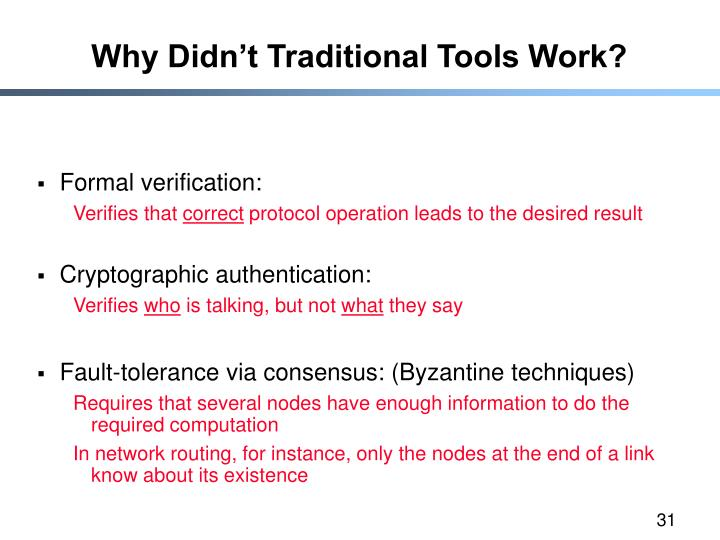 Why Didn't Traditional Tools Work?