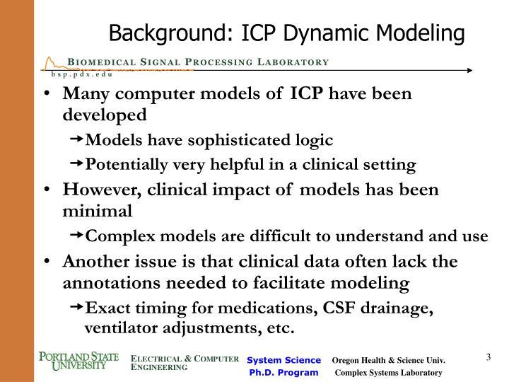 Background icp dynamic modeling