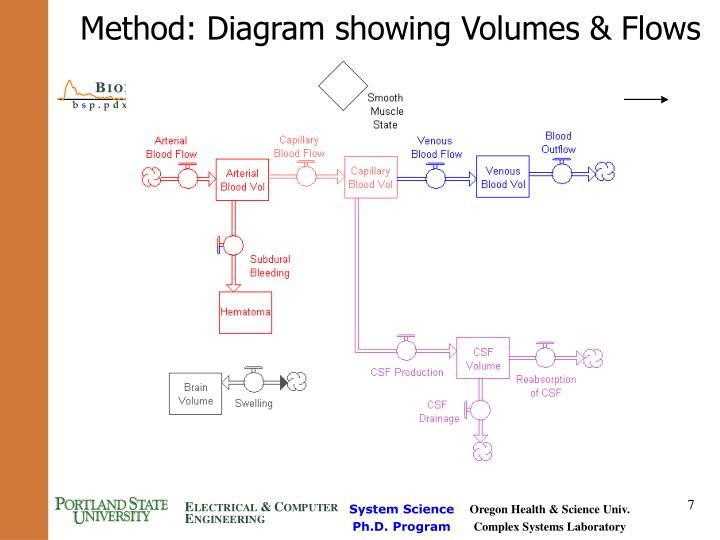 Method: Diagram showing Volumes & Flows