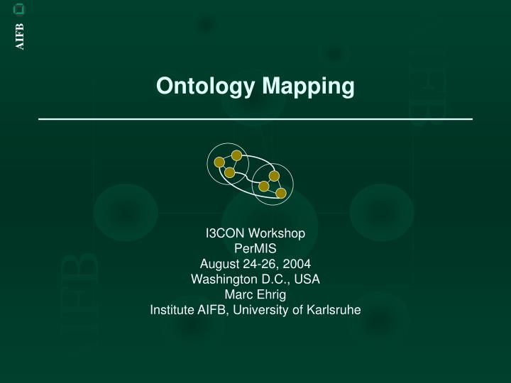 ontology mapping n.