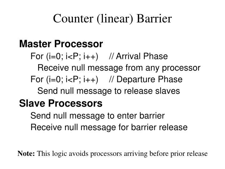Counter linear barrier