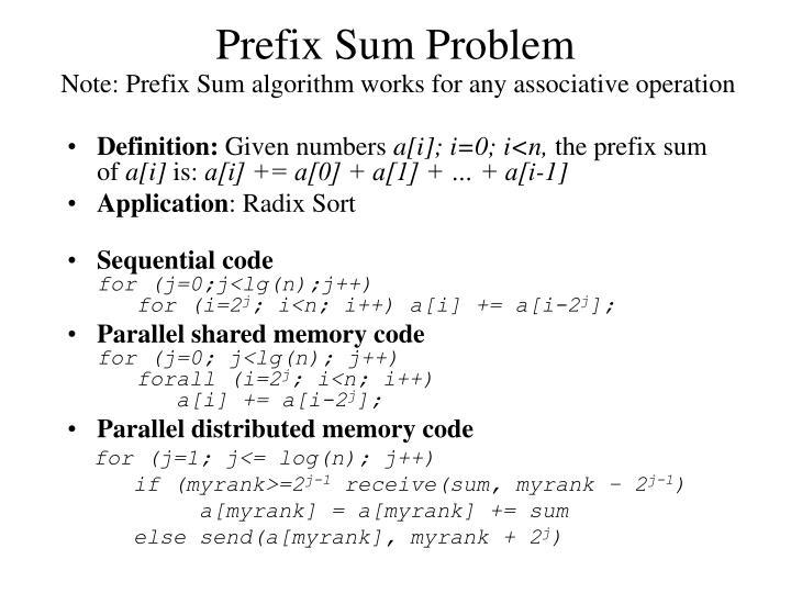 Prefix Sum Problem