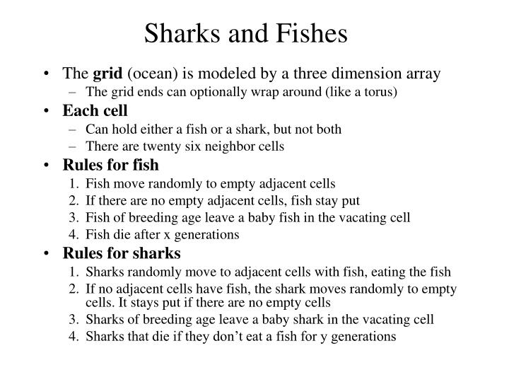 Sharks and Fishes