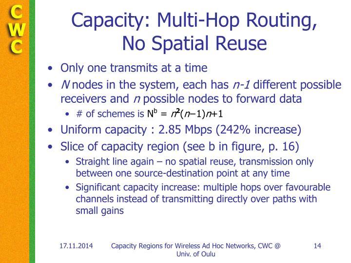 Capacity: Multi-Hop Routing,