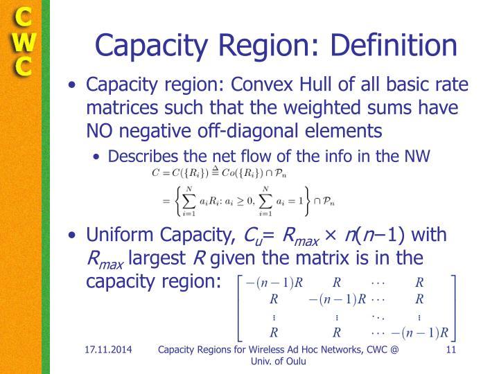 Capacity Region: Definition