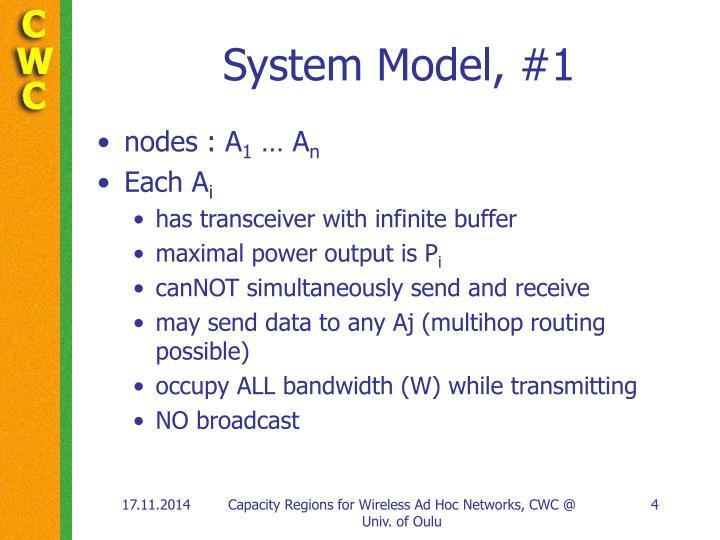 System Model, #1