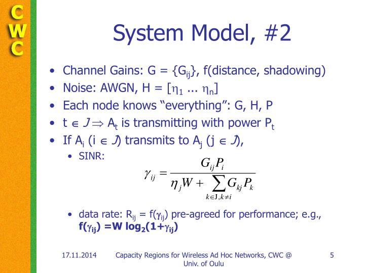 System Model, #2