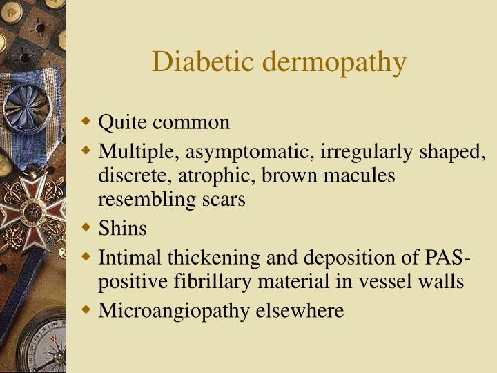 Diabetic dermopathy