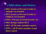 child abuse and history