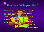 how does dv impact kids