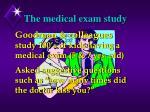 the medical exam study