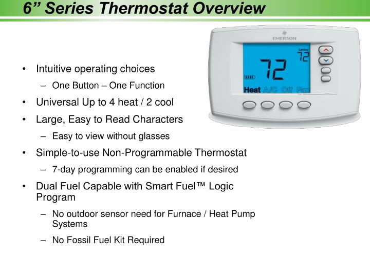 "6"" Series Thermostat Overview"