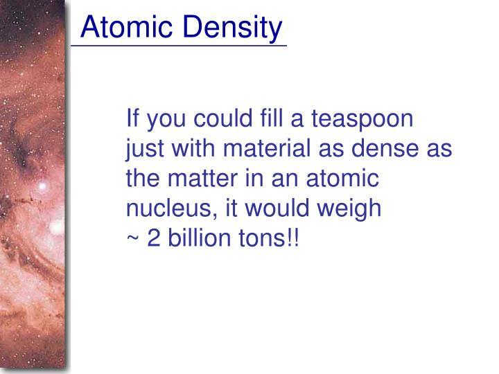 Atomic Density