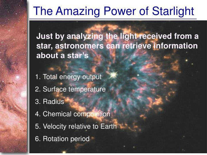 The Amazing Power of Starlight