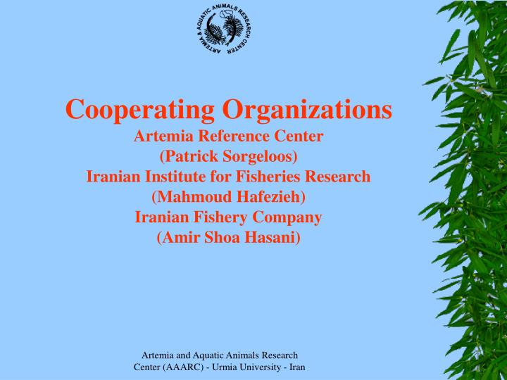 Cooperating Organizations