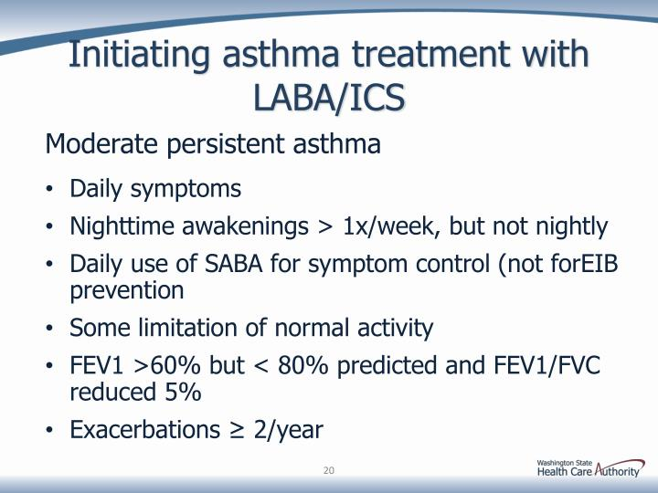 Initiating asthma treatment with LABA/ICS