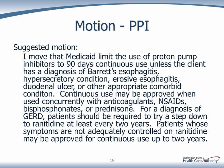 Motion - PPI