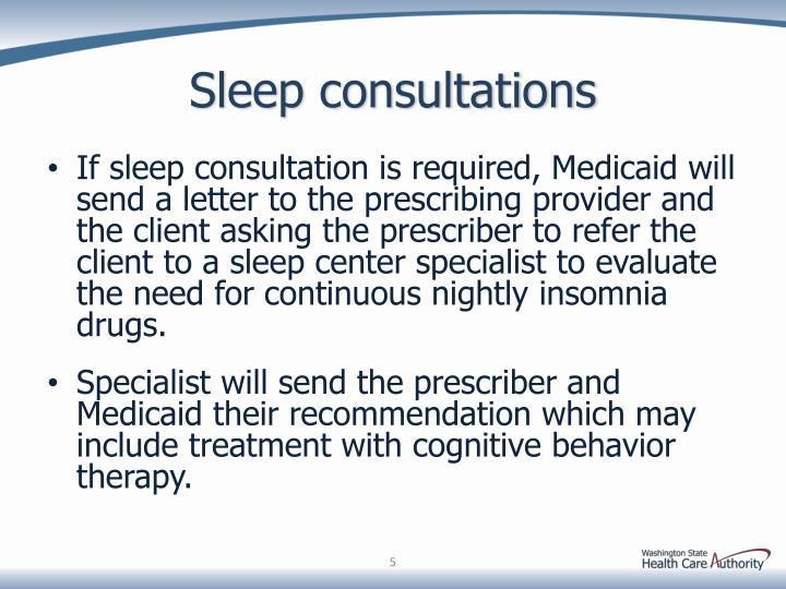 Sleep consultations