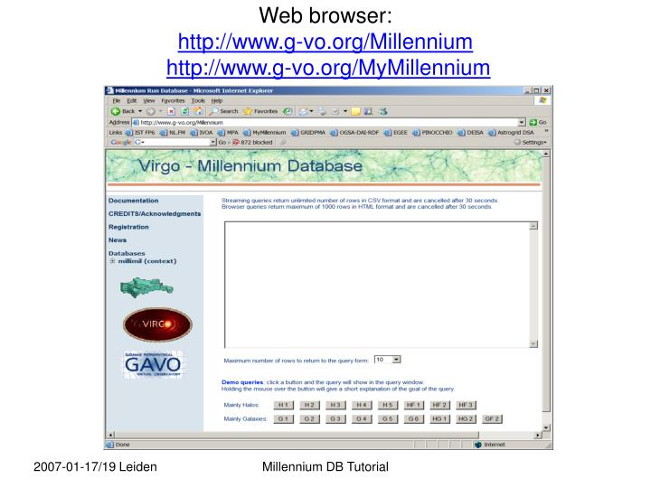 Web browser: